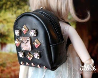 1:4 Bedazzled Black Backpack for BJD Dolls