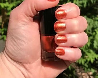 JABE- Pearly Rusty Leaves Color Stardust Doctor Who Inspired Nail Polish - Pumpkin Souffle Scented - 5-Free & Cruelty Free