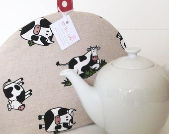 Tea Cosy, Cows Tea Cosy, Tea Cosy, Black and White Cows, Kitchen Accessory, Tea Time! Dairy Cows, Gift, Kitchen, Comical Cows
