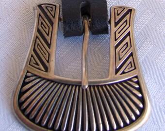 Sterling Silver Belt Buckle Set