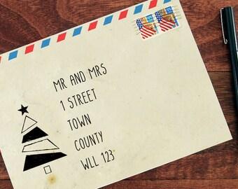 Christmas Address Writing Tool - Christmas Tree - Christmas Stencil - in Reuasble Mylar