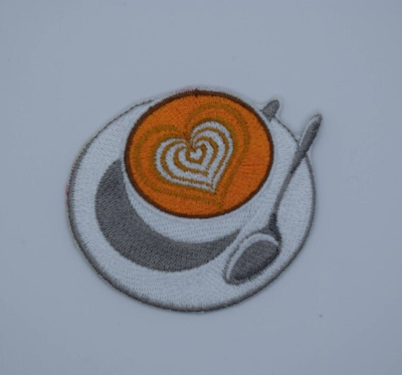 Latte Heart Iron on Patch