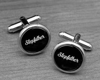Stepfather Cufflinks, Cufflinks, Wedding Cufflink, Stepdad of the Bride Cuff Links, Wedding Dad Cufflinks, Gifts for Stepfather, Cuff links