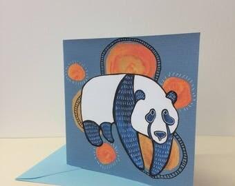Bear greetings card. Quirky bear card