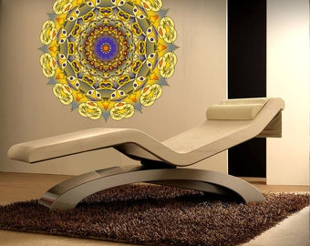 Yoga Studio, OM, Wall Art, Colorful Mandala Ornament Yoga Full Color Wall Decal Sticker AN-457 FRST