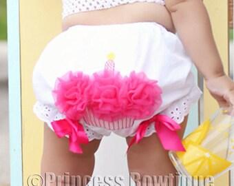 Birthday Girl Diaper Cover, First Birthday Bloomer, Cupcake Diaper Cover, birthday diaper cover, birthday nappy cover, 1st Birthday Pictures