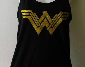 Wonder Woman glitter gold