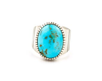 Contemporary Kingsman Turquoise Ring by Turquoise Kingdom