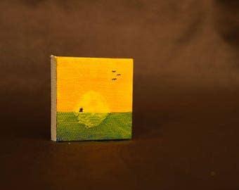 Ship on the Horizon miniature painting