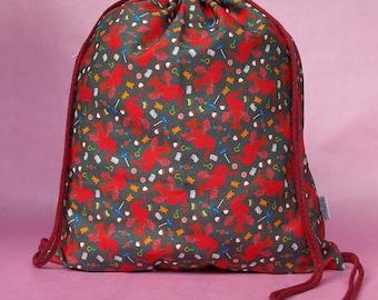Saemus Dragon Gym Bag Drawstring Backpack