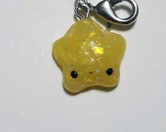 Yellow Kawaii Star Charm