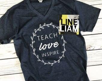 teacher shirt, teacher gift, personalized teacher gift, womens graphic tee, shirts for teacher, teacher appreciation, womens tshirt