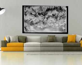 black and white fluid abstract mixed media original abstract fluid art acrylic abstract wall art fluid canvas art modern modern wall decor