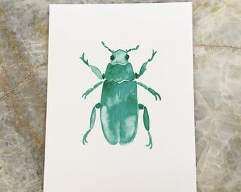 Fine Art Bamboo Print: Beetle