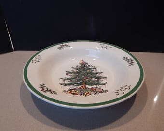 SPODE Christmas Tree Large Bowl Pasta Serving Bowl 11.5""