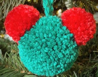 Mickey PomPom Christmas ornament READY TO SHIP!