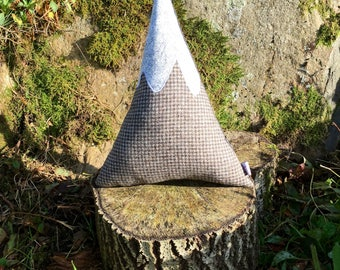 Tweed Mountain Cushion - Small