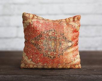 Persian Carpet Pillow Moroccan PillowCase Antique Cushion Cover Persian Rug Pillow Toss Home Decor Throw Pillow Cover Birthday Mom Gift Idea