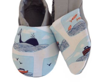 Ships in a Bottle Soft Sole Baby Shoes, booties, pram shoes