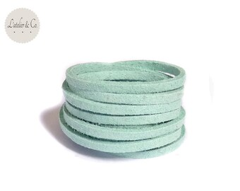 1 m x 1.5 mm suede 3mm Baby Blue Suede cord