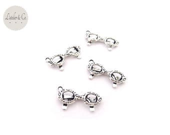 10 charms 22x11mm silver holiday beauty A16 sunglasses