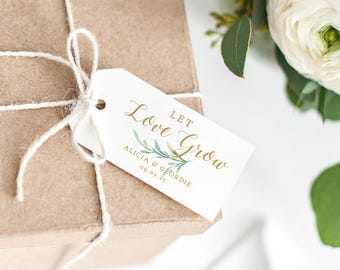 let love grow tag wedding favor tag wedding love gift tags thank you