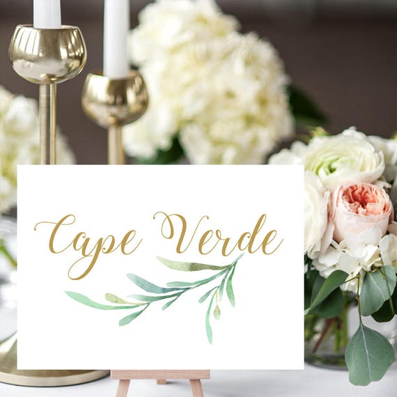 Wedding Gift Stores Nyc: Greenery Wedding Table Names Template Printable Reception