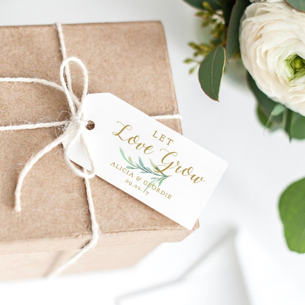 Let Love Grow Wedding Favor Sayings