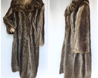 1950s Genuine Raccoon Fur Coat - True Vintage