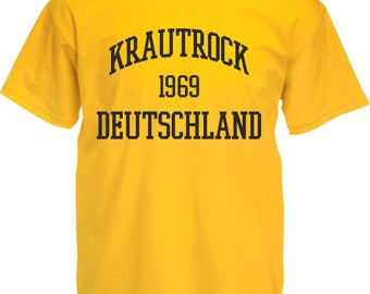 Krautrock Deutschland 1969 T-Shirt - Various Sizes/Colours