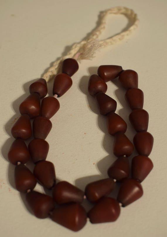 Beads Philippines Buri Nut Rust Cone Shape Jewelry Necklace Earrings Buri Nut Beads