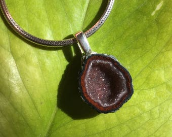 Miniature Tabasco Crystal Geode Pendant 2-22-17-18