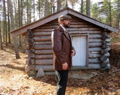 Men's Vintage Style Coats and Jackets 70s Soft Comfortable Vintage Brown Leather Jacket  Coat mens size 42 $48.50 AT vintagedancer.com