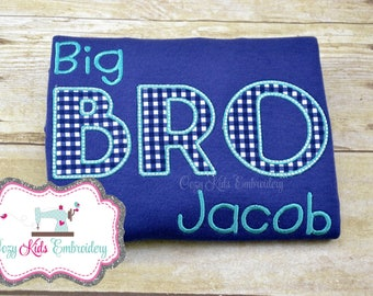 Big Brother Shirt, Big Bro Shirt, Sibling Shirt, Coming Home Outfit, Baby Pictures with Siblings, Personalized Shirt, Monogram Shirt