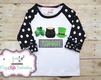 St. Patrick's Day shirt, Saint Patrick's Day shirt, Irish Shirt, Shamrock Shirt, Pot of Gold Shirt, Leprechaun Shirt