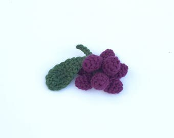 Crochet Pretend Grapes | Crochet Fake Food Kitchen Toy