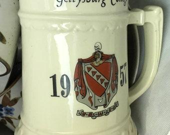 1957 Gettysburg College Mug Cup Stein