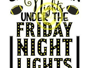 Small Town Svg, Small Town Nights SVg, Friday Night Lights Svg, Dxf