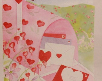 """NEW! Vintage """"Grandmother"""" on Valentine's Day by Magic Moments. Single Greeting Card with Envelope."""
