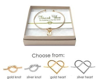 Knot Bracelet Bridesmaid- Thank You for Helping Me Tie the Knot- Bridesmaid Thank You Gift- Tie the Knot Bracelet- Love Knot Bracelet