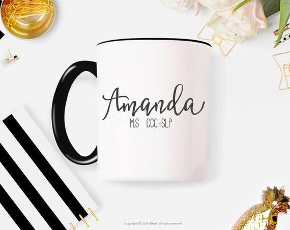 Custom SLP Mug With Name, Speech Language Pathologist Mug With Name, Speech Therapy Mug, SLP Birthday Gift, SLP Mug, Speech Therapy  34G