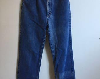 Vintage LEE Riders Denim Blue Jeans // Bootcut 70s Denim 26 27 28