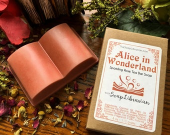 Alice in Wonderland Bar Soap - Literary Gift, Book Gift - Handmade Soap