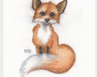 Crazy Like a Fox watercolor