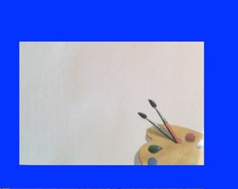 Sticky Note Pad  - Art Palette and Paint Brushes, Art Teachers - Artists - 30 Artsy Sticky Pages - Great Gift
