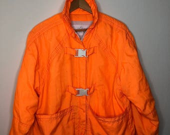 "Neon Orange ""Life-Jacket"" Coat"