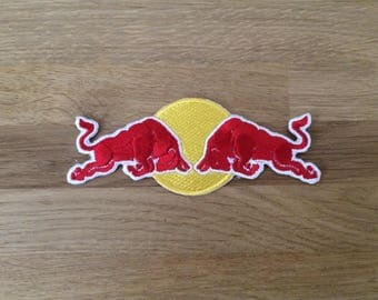 Red Bull Logo Embroidered iron on path, emblem logo Patch, Super nice patch