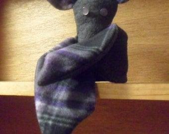 Gray and Purple Stuffed Bat