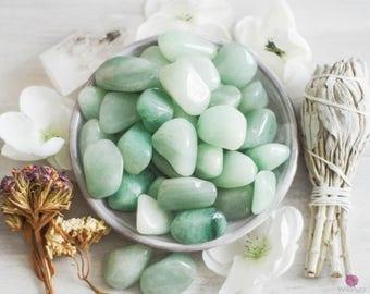 Green Aventurine - Prosperity Stone - Friendship Stone - Loose Stones - Gemstones - Smooth Stones - Healing Stones - Tumbled Stones