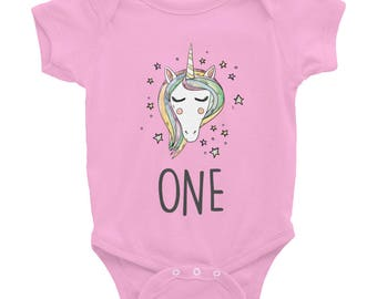 Unicorn Birthday Outfit | Baby Girl Clothes | Unicorn Onesie Baby | Funny Baby Onesie | Unicorn Bodysuit | 1st Birthday Outfit, Unicorn Gift